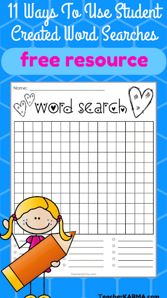 End of Year Word Searches