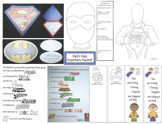 My Dad's a Superhero: Writing Prompt Crafts For Father's Day!