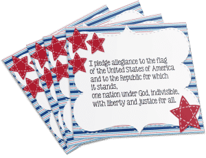 Free Pledge of Allegiance Sign!