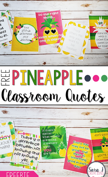 Pineapple Classroom Posters