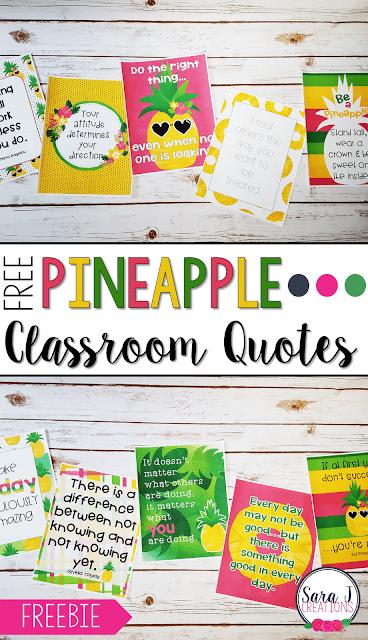 Pineapple Classroom Posters - Classroom Freebies
