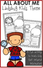Sea of Knowledge's Free All About Me Back to School Poster Activity