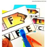 Sea of Knowledge's Free Uppercase Matching Clip Cards Back to School