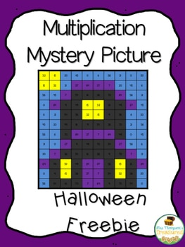 Free Halloween Math – Multiplication Mystery Picture