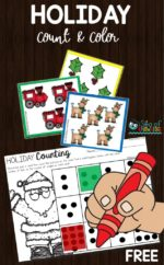 Sea of Knowledge's Free Holiday Counting Activity Printable