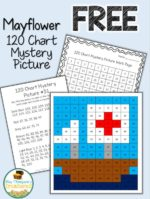 Free Mayflower Mystery Picture Math Activity