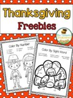 Thanksgiving Color by Code Freebies