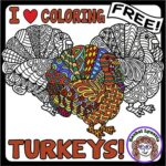 Turkeys to Color – Fun for Kids and Adults!