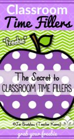 Classroom Time Fillers: Nix the CRAZIES!