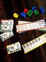 Sea of Knowledge (Totschooling)'s Free Winter Letter Tracing Dry Erase Cards