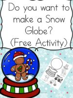 Free Activity – Do You Want to Make a Snow Globe?