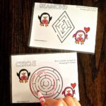 Sea of Knowledge's Free Valentine Shape Tracing Mazes