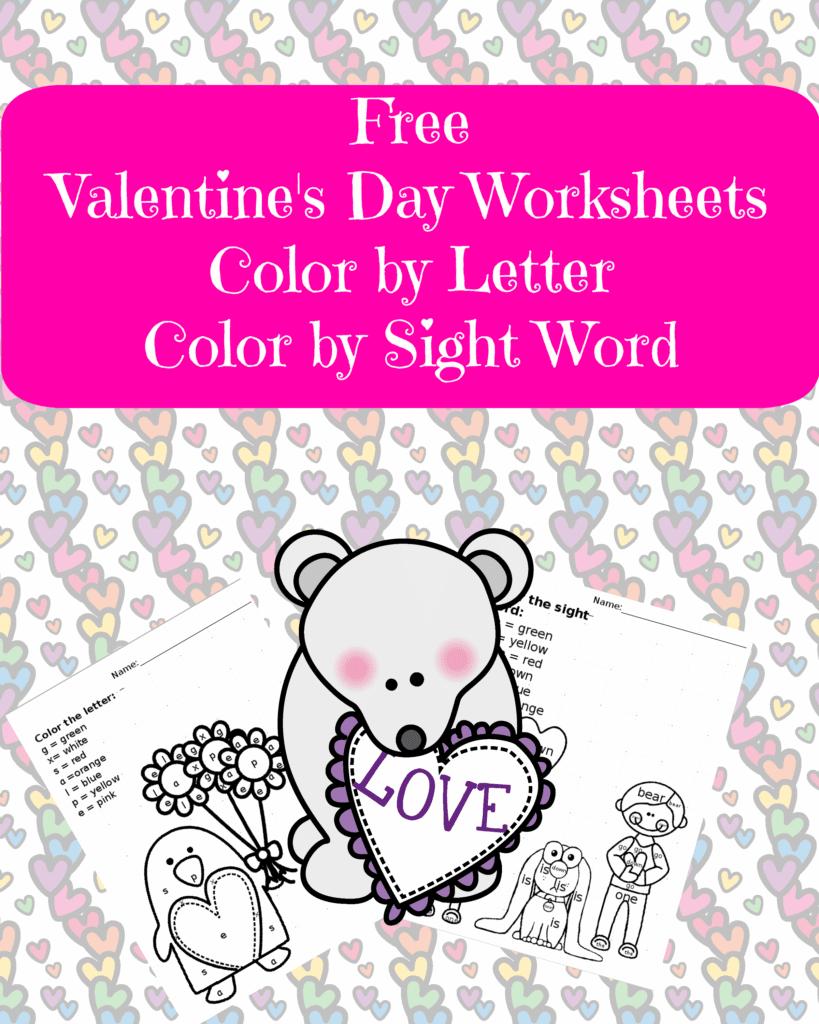 Valentine\'s Day Worksheet - Classroom Freebies