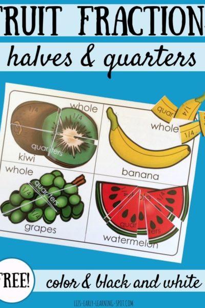 Fruit Fractions Freebie
