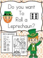 Free Roll a Leprechaun – St. Patrick's Day Kindergarten Worksheets