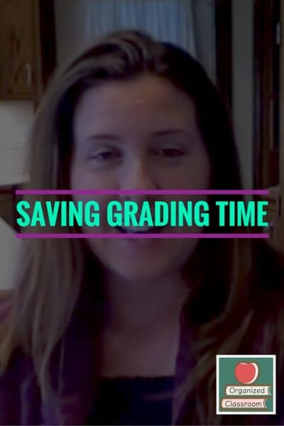 How do you shorten time spent grading?
