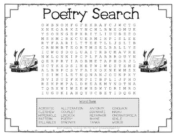 Free Poetry Activities