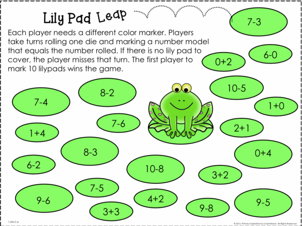 Easy Prep First Grade Math Games