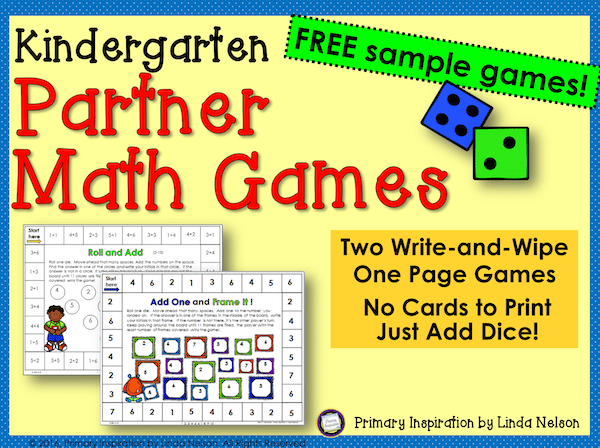 Easy Prep Math Games for Kindergarten