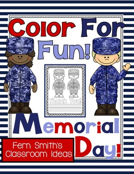 Fern Smith's Free Memorial Day Color For Fun FREEBIE!