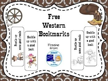 Free Western Bookmarks
