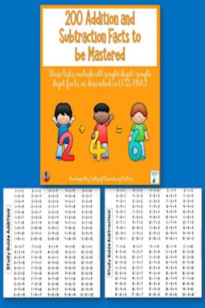 Math Facts for Mastery
