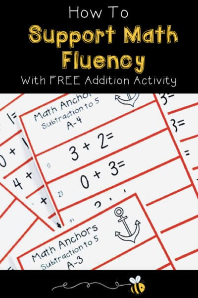 How To Support Math Fluency With Addition Activity