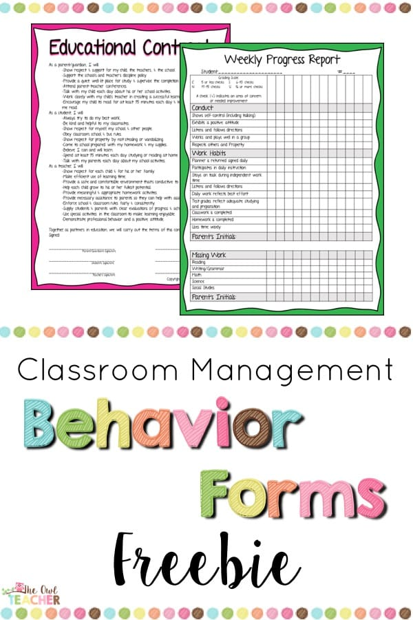 Maintain classroom management with these behavior forms! These daily report forms help you keep track of your students' progress and make reporting behavior a cinch! Grab them for free now!