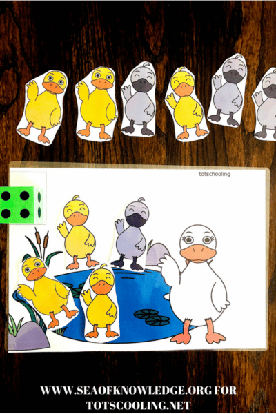 Sea of Knowledge's (Totschooling) Free Ugly Duckling Counting Mat