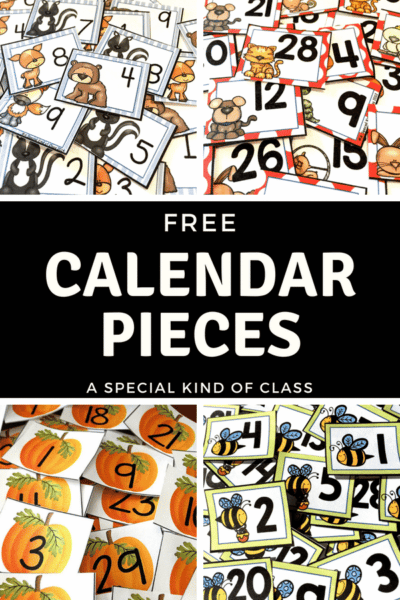 Free calendar pieces to organize your classroom calendar during the summer #calendar #calendarpieces