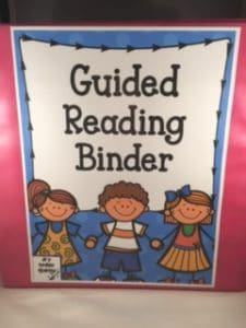 Free Guided Reading Binder