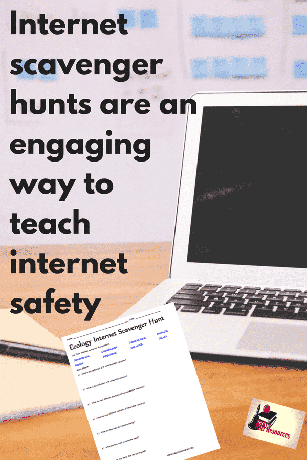 Internet Scavenger Hunts are an engaging way to teach internet safety