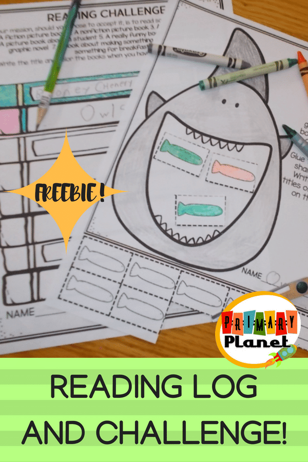 This is a fun reading log and challenge that your students can use to keep track of their reading time! #reading #bestresourceever #freebie