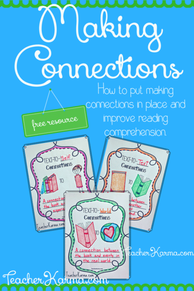 making connections to text resources #makingconnections #readingcomprehension #tpt