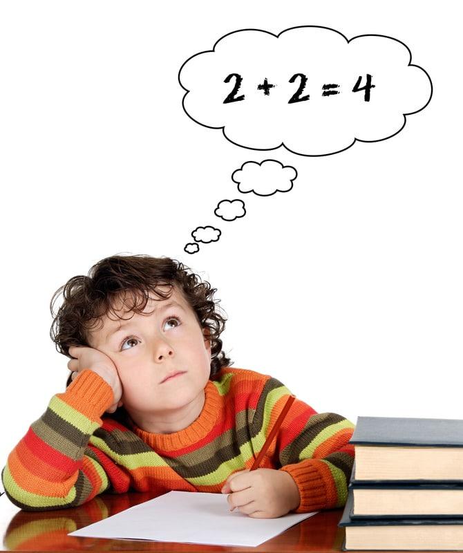 Boy 2+2=4
