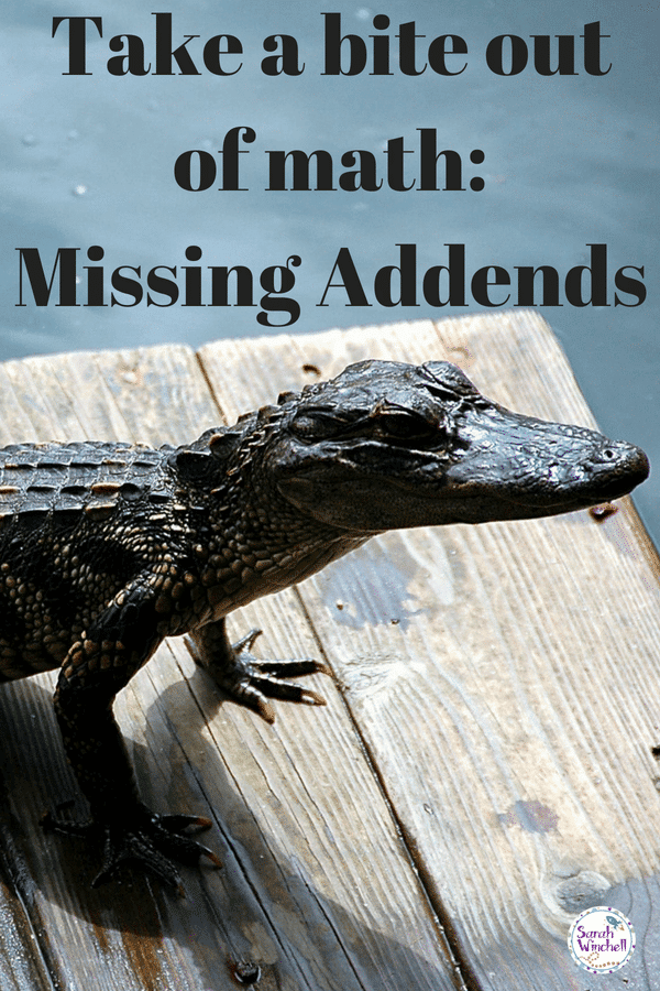 misssing addends math activity