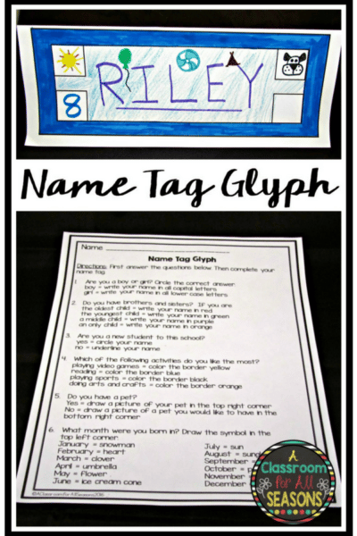 Back to School Name Tag Glyph