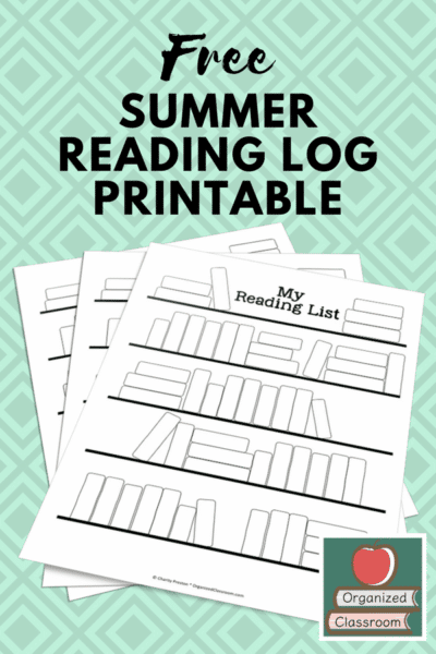 Summer Reading Log Freebie for keeping kids engaged in reading all summer long. #summerreading #classroomfreebies #readinglog