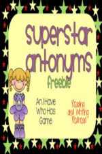 Small Group Antonym Game