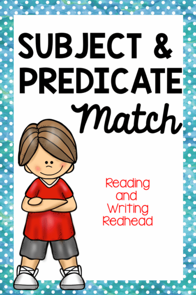 Subjects and Predicates Practice, #classroomfreebies