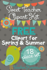 Teacher Clipart Kit for SUMMER