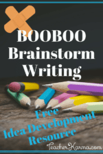Writing Resource – BOOBOO Brainstorm
