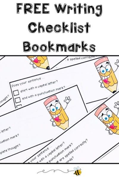 How To Differentiate With Writing Checklist Bookmarks