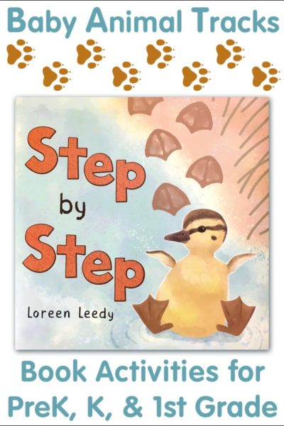 Baby animal tracks book activity for PreK, Kindergarten, and First Grade #animaltracks #babyanimals #childrensbooks