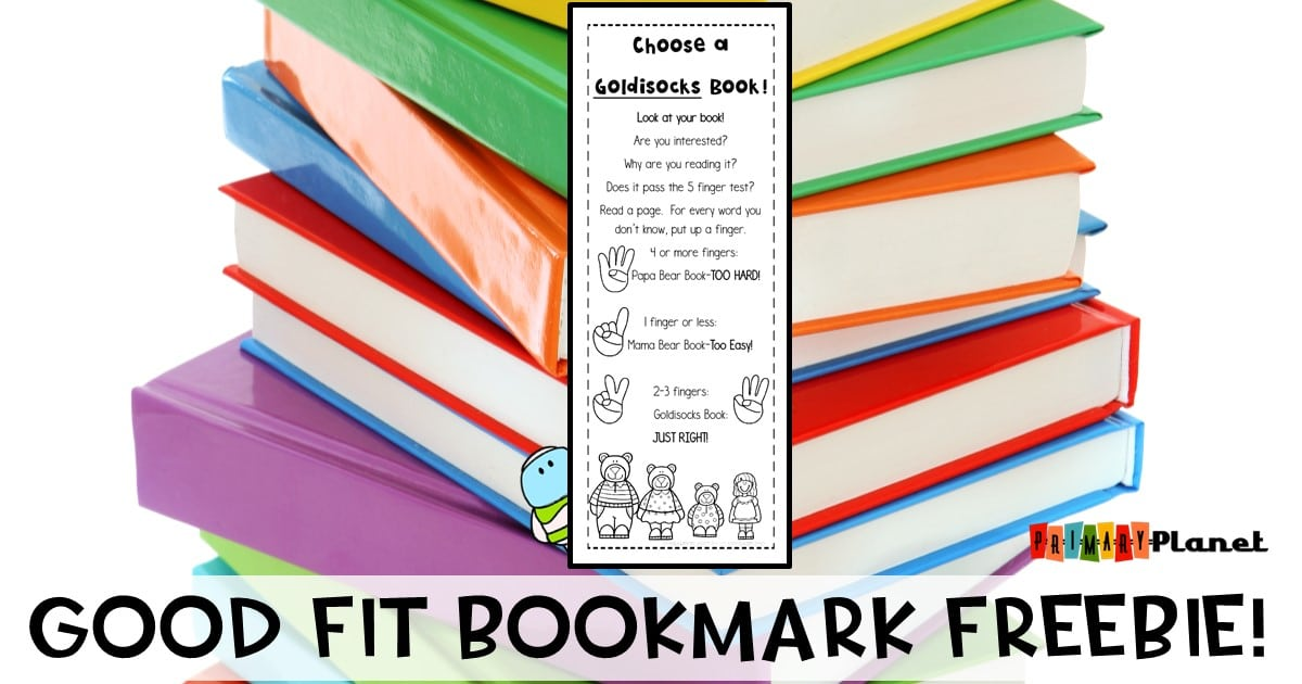 Awesome Mentor Text and Bookmark Freebie for teaching students how to choose Good Fit Books! #reading #goodfitbooks #bestresourceever