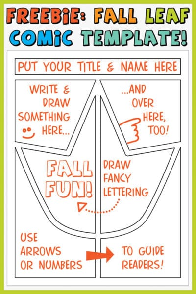 Free Fall Leaf Comic Template Printable