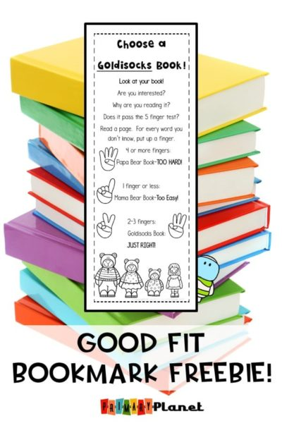 This is awesome bookmark helps your students choose their own Good Fit Books.