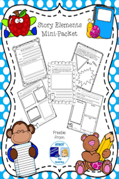 Free Story Elements Mini-Packet #literature #lessonplans