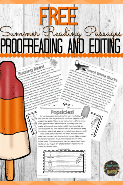 Free Proofreading and Editing Reading Comprehension Passages