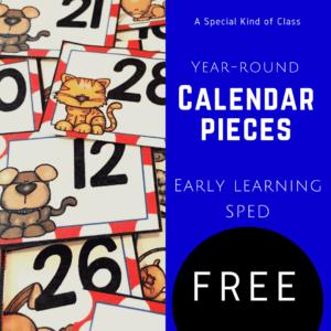 Free calendar pieces to organize your classroom calendar during the summer #calendar #calendarpieces